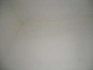 浴室クリーニングで黒カビを除去した天井です