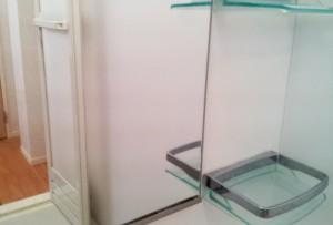 浴室鏡のウロコ状の汚れ磨き施工後