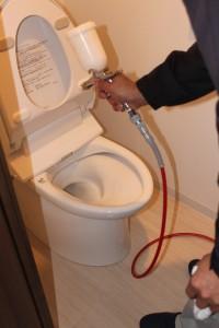 トイレへのセルフィール施工